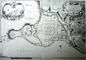 Plan de Louisbourg, conservé au Musée Sully de Châtellerault