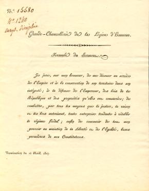 Les Archives de la Légion d'honneur (2) – Contenu du fonds des Archivesnationales