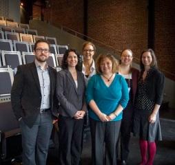 Tristan Müller, Mireille Laforce, Julie Monette (directrice, région Montréal), Carole Gagné, Noura Elmobayed-Langevin (secrétaire, région Montréal), Julie Contant (secrétaire adjointe, région Montréal).