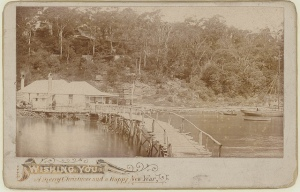 The old Bridge, Mosmans Bay, Sydney, ca. 1890