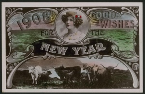 With 1908 Good Wishes for the New Year, 1907