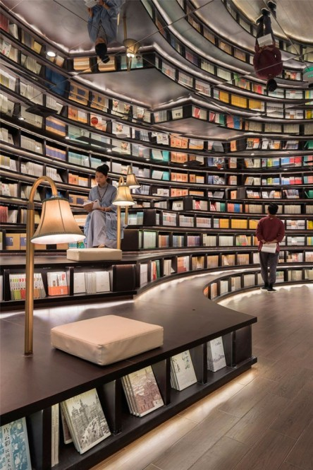 La librairie de Hangzhou, en Chine. Une conception architecturale de XL-Muse. Crédit photo: Shao Feng